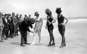 This isn't the first time women have been told what they can and cannot wear at the beach. (Photo by Underwood Archives/Getty Images)